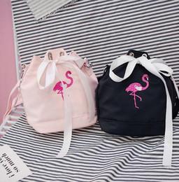 Flamingo handbags online shopping - Flamingo Drawstring Bucket Bags Shoulder Bag Crossbody Tote Handbag Messenger Bags Drawstring Bag Mini Bucket Bag LJJK779