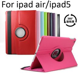 wholesale mini ipad covers 2019 - Magnetic 360 Rotating leather case Smart cover Stand For iPad air3 Air2 air 2 6 5 4 3 Mini 4 3 Retina DHL free PCC058 ch