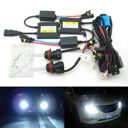 Hid Car Bulbs Canada - LEEWA 35W AC Car Headlight 9004 9007 Xenon Bulb Hi Lo Beam Bi-Xenon Bulb Light Digital Slim Ballast HID Kit #4479