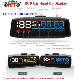 Wholesale GPS Best Match Auto HUD Lighting Car HUD head up displays OBD II Euro OBD Outlet switch line for all car series auto styling