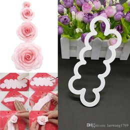 cake decor tools NZ - Silicone 3D Rose Flower Fondant Cake Chocolate Sugarcraft Mould Mold Decor Tool ZH841