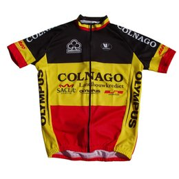 6edc8a194 2018 colnago Belgium champion jersey breathable cycling jerseys Short  sleeve summer quick dry cloth MTB Ropa Ciclismo