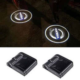Mitsubishi door online shopping - Led Car Door Logo Lights For Renault Ford Citroen Opel Mitsubishi Lada Toyota Peugeot Mazda car styling