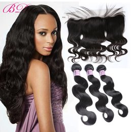 lace frontal pieces Australia - BD Body Wave Lace Frontal Closure Human Hair Lace Closure Three Pieces Bundles Within One 13*4.5 Lace Closure