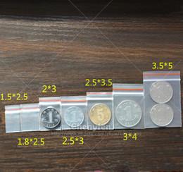 Mini Zip Lock Bags Canada - Free Shipping 100pcs Tiny Zip lock Bags (lip With Red Line) Mini Resealable Clear Plastic Sealing Baggies