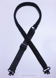 Wholesale Brand new Adjustable Paracord Rifle Gun Sling Strap With Swivels Hunting accessories All Black