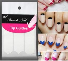 100pcs Lot Nail Art French Tip Guides Sticker C Y V Styles DIY Stencil Form Fringe