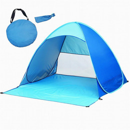 two door tents UK - Outdoor 2 fully automatic beach tent fast open sun shading double beach tent super light picnic waterproof fishing out203