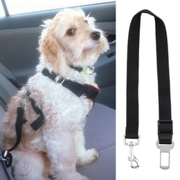 Belt Locks Canada - Top Quality Dog Safety Seat Belt Restraint 12''-24'' For Car Van Lock Adjustable Pet Lead