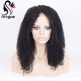 brazilian virgin kinky curly lace wig Canada - Kinky Curly Virgin Human Hair Wig Brazilian Virgin Hair Full Lace Wigs With Baby Hair Jerry Curl Glueless Lace Front Wig