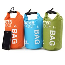 2L Outdoor Waterproof Dry Bag Storage Camping Kit Floating Swimming Beach  Rafting Driftage Bag For Phones Container