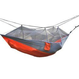 $enCountryForm.capitalKeyWord NZ - Fashion Handy Hammock Parachute Fabric Mosquito Net Hammock Single Person Portable Indoor Outdoor Camping Hiking Hangmat Free Shipping