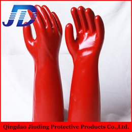 Water Proof Coatings Australia - Gloves manufacturer selling pvc coated oil and gas resistant water proof working glove with free samples from china suppliers