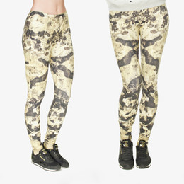 Girls Camouflage Trousers Canada - Women Leggings Camouflage 3D Graphic Full Print Lady Skinny Stretchy Gym Yoga Wear Pants Girl Pencil Fit Runner Soft Trousers New (J31748)