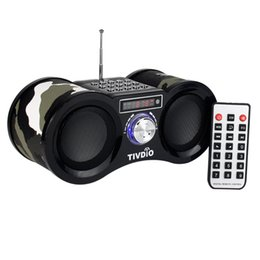 Chinese  Camouflage Stereo FM Radio USB TF Card with Speaker MP3 Music Player with Remote Control Receiver Radio Recorder F9203M manufacturers