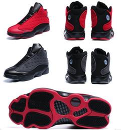 $enCountryForm.capitalKeyWord Australia - 13 Wool 13s plush black red 3D eye Wholesale Basketball Shoes Men With Box Free shipping Men size