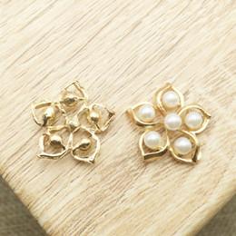 $enCountryForm.capitalKeyWord NZ - 50pcs Flower Rhinestone Pearl Gems Crystal Wedding Brides Hair Accessories Findings Charms Flatback Drilling Jewelry strass Embellishment