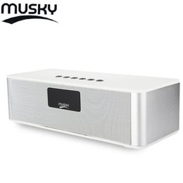 Wholesale- MUSKY DY21L Mini HIFI V4.0 Bluetooth Speakers with Stereo FM AUX Wireless Super Bass Built in Mic Boombox Time Alarm FM Mode from balance scooter speaker manufacturers