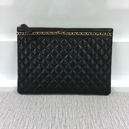 $enCountryForm.capitalKeyWord NZ - New Fashion Women lambskin Boy Cosmetic Bag Chain Designer Clutch bag Diamond Lattice Shoulder Bag 7010
