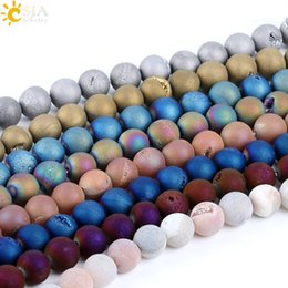 $enCountryForm.capitalKeyWord Australia - CSJA Men Women Jewelry Necklace Bracelet Loose Beads Unique Raw Crystal Quartz Ore Minerals Gemstone Real Natural Heal Stone 12mm Beads P009