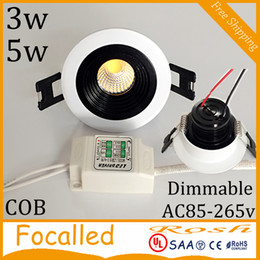 $enCountryForm.capitalKeyWord NZ - New Arrvial LED Recessed Downlight Dimmable 3W 5W COB Chip LED Ceiling Spot Light Lamp AC90-260V Warm Cool White + Drivers