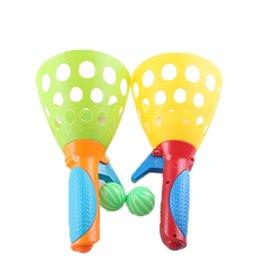 $enCountryForm.capitalKeyWord UK - Wholesale- 1 Pair Children Throwing and Catching The Ball Set Parent-child Interactive Catch ball Toy Indoor Outdoor Sports Games Toys 2017