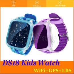 $enCountryForm.capitalKeyWord Canada - DS18 Smart Phone GPS wifi Watch Children Kid Wristwatch GSM GPS WiFi Locator Tracker Anti-Lost Smartwatch Child For iOS Android Baby