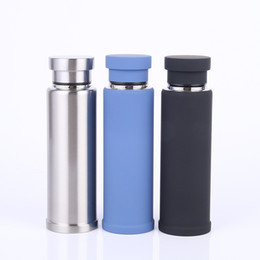 Discount hot chocolate wholesalers - Creative Water Bottle Multi Color Portable Coffee Mug Stainless Steel Insulated Cup Business Gift Hot Sale 28sw C R