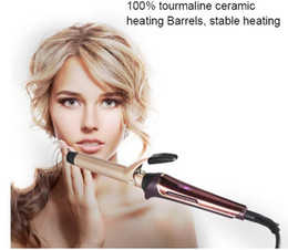 Heated Roller Hair Australia - professional electric heating hair curling iron roller wave styler wand ceramic hairdressing styling curly cone barrel waving