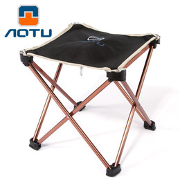 $enCountryForm.capitalKeyWord Canada - AOTU New Aluminium Alloy Outdoor Foldable Folding Fishing Picnic BBQ Garden Chair Tool Square Camping Stool 163