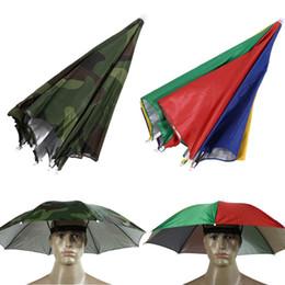 29fed150e25 Fashion Design Usefull Umbrella Hat Sun Shade Camping Fishing Hiking  Festivals Outdoor HandsFree Parasol Umbrella Hat Cap
