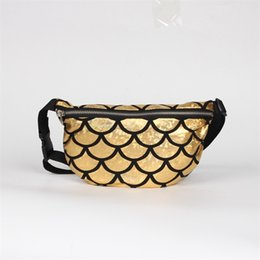 Woman milking cups online shopping - Originality Inclined Shoulder Storage Bags Multicolor Zipper Makeup Package Mermaid Sequins Fish Scale Waist Pack Women Gifts lja C R