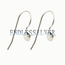 $enCountryForm.capitalKeyWord UK - Fishhook Earring Settings Blank Base Simple Earwire 925 Sterling Silver Jewellery DIY Findings for Pearl Party