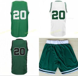 Homme Maillot De Basket Vert Pas Cher-2017 New Arrival 20 Gordon Hayward Basketball Jerseys Sports Hommes Hayward Jersey Team Green Alternate White Color Breathable Drop Free Ship
