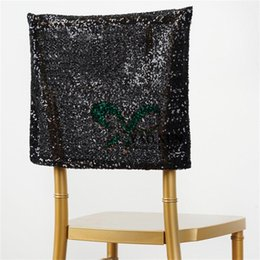 Party Chairs For Sale Wholesale Australia - Hot Sale Sequin Chair Cap \ Hood Cover Fit For Chiavari Chair Wedding Party Decoration
