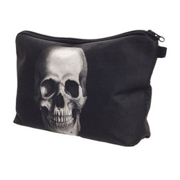 $enCountryForm.capitalKeyWord NZ - Wholesale Skull Monster 3D Printing Makeup Bag Maleta de Maquiagem Cosmetic Bag necessaire bags Organizer Party neceser maquillaje