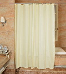 $enCountryForm.capitalKeyWord Australia - Waterproof Shower Curtain 100% Polyester mildew thick Bathroom Curtains lattice solid color Pattern with Hooks Free print wholesale LJ028