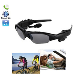 Iphone Stereo Player Australia - Wireless Bluetooth Sunglasses Headset Sunglass Stereo Sports SmartHeadphone Handsfree Earphones Music Player for iPhone Samsung HTC With Box