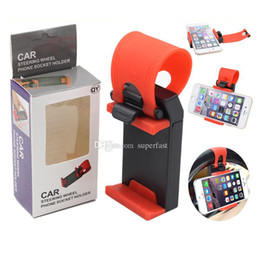 $enCountryForm.capitalKeyWord Canada - For Iphone 6 Universal Car Steering Weel phone Socker Holder car Holder For Smart Phone PDS GPS PSP Camera Recoder With Retail Box