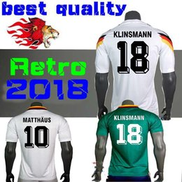 472bbfc4689 online shopping 1990 Germany Retro version VINTAGE CLASSIC Soccer Jersey  KLINSMANN MATTHAEUS home away shirts JERSEY