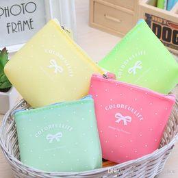 $enCountryForm.capitalKeyWord NZ - Korean Style High Quality Jelly Glue Candy Color Cartoon Coin Purses Cute Bowties Mini Wallet Holders Key Bag 0314