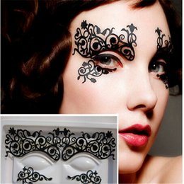 Autocollants Pour Tatouage Des Yeux Gros Pas Cher-Vente en gros- Hot1 Pairs Eye Tattoos Eyeliner Eye Shadow Sticker Outils de maquillage Easy Use Cosmetic Products For Party + Hot Item