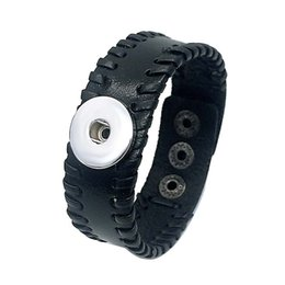 Interchangeable snap jewelry wholesalers online shopping - fashiong Genuine Leather Bracelet Interchangeable mm Ginger Snap Charm Bracelet Jewelry Noosa Bracelet