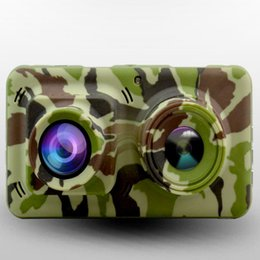 "ltps lcd UK - 1080P Dual Lens Camouflage Infrared Night Vision Camera with 4.5"" LTPS TFT LCD & HDMI & G- Sensor & Motion Detection Supported Free Shipping"