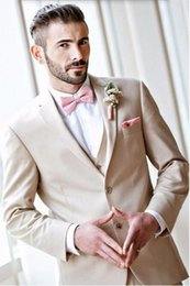 Barato Boa Prom Smokings-Handsome Men Fatos de festa de jantar Custom Made Conjuntos de noivo Tuxedos de boa qualidade Groomsmen Prom Suit (Jacket + Pants + Vest)