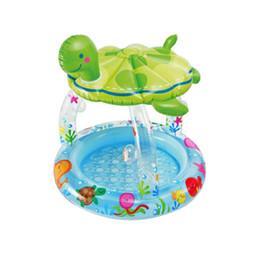 $enCountryForm.capitalKeyWord Canada - Turtle Inflatable Swimming Pool Round Sunshade Paddling Pool Baby Bathtub Sea Pool for Summer Outdoor Play