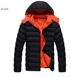 All'ingrosso- Uomini Giacca invernale New Fashion Jacket Down Cappotto in poliestere Parka Wear Alta qualità Plus Size 3XL Thick Warm Coat