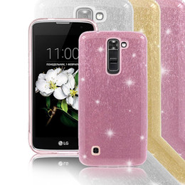 Shine Pink Canada - For LG Stylo 2 Plus V10 K10 K7 Coolpad C3701A Revvl Plus 3623A TPU PC Bling Glitter Case Pink Shining Stylish Hybrid Cover