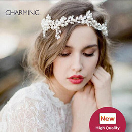 hair vine crystal NZ - headpieces for wedding wedding accessories bridal headwear princess bride tiara hair accessories for girls wedding flower hair vines