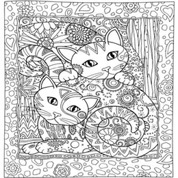 Creative Haven Cats Colouring Book For Adults Antistress Coloring 185x21 Secret Garden Series Adult